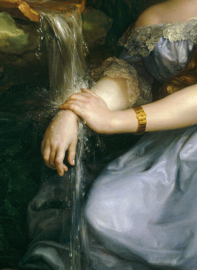 jaded-mandarin :        Madame de   Carvallo   ,     1839. Detail.