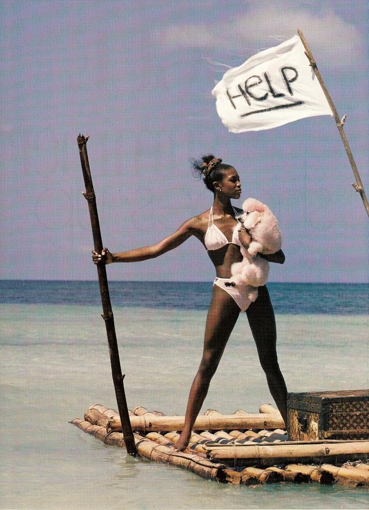 saloandseverine :     US Vogue May 1996, The Bikini Sets Sail   Naomi Campbell by Herb Ritts