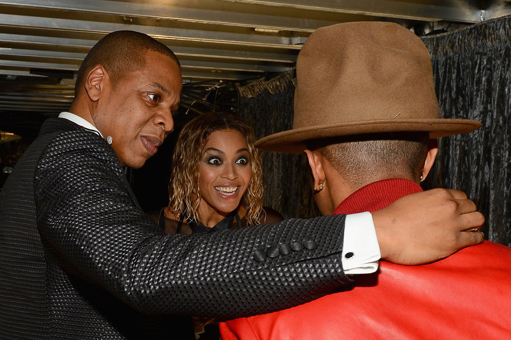 escapedgoat :      Jay Z thanking the friendly park ranger for rescuing his wife from that pond.