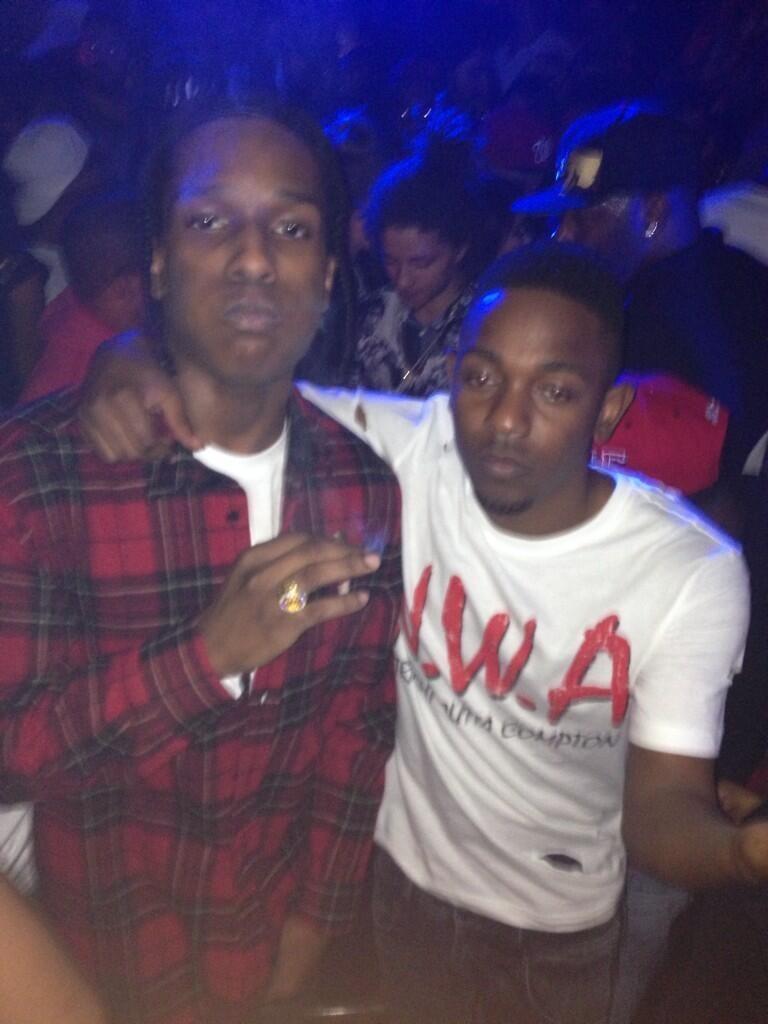 asapworldwide :     Rocky x Kendrick Lamar