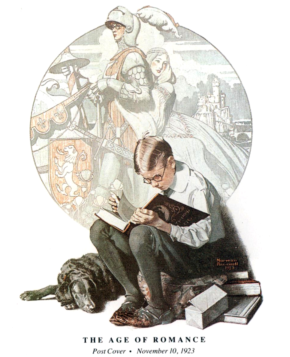 saveflowers1 :      Art by Norman Rockwell  (1923) from SATURDAY EVENING POST.