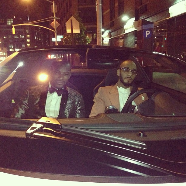 instacelebs: Fly Guys Club: Tyson Beckford & Swizz Beatz suited up in the whip!