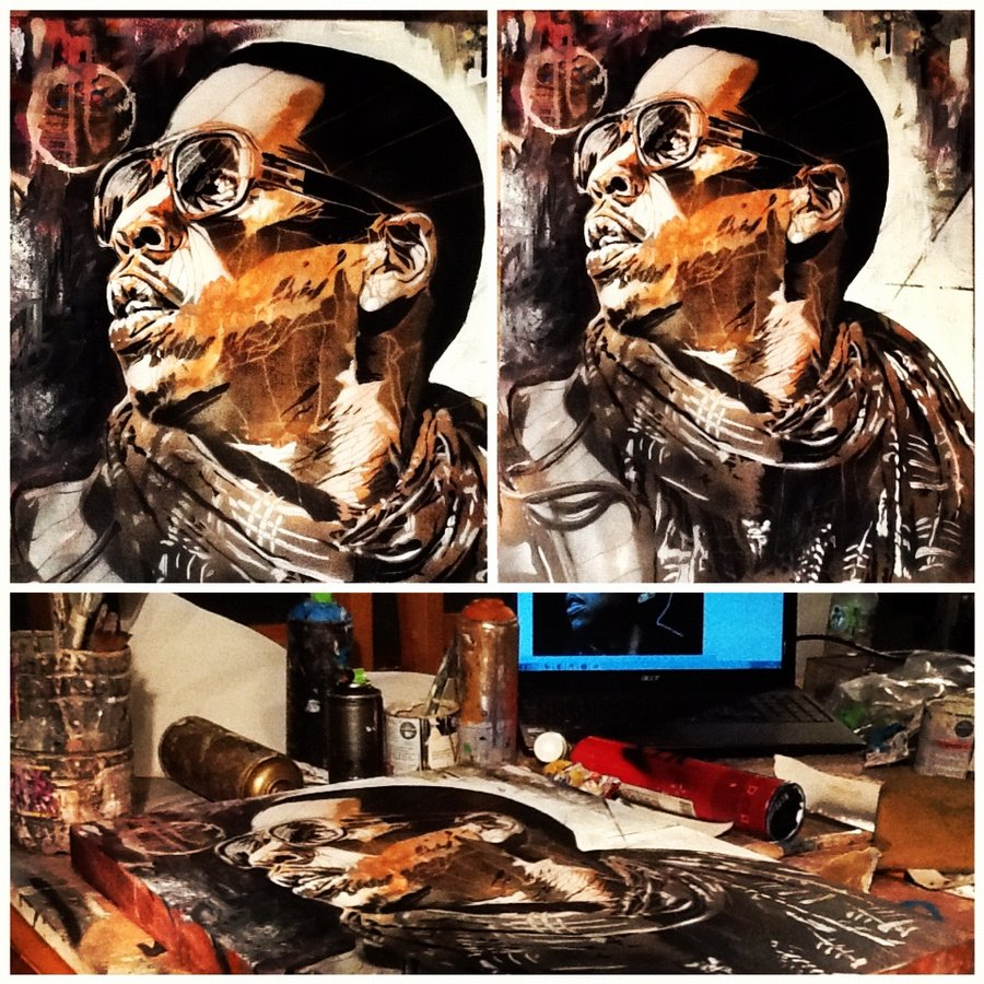 Jay-Z Painting byhttp://artbydavidc.deviantart.com/