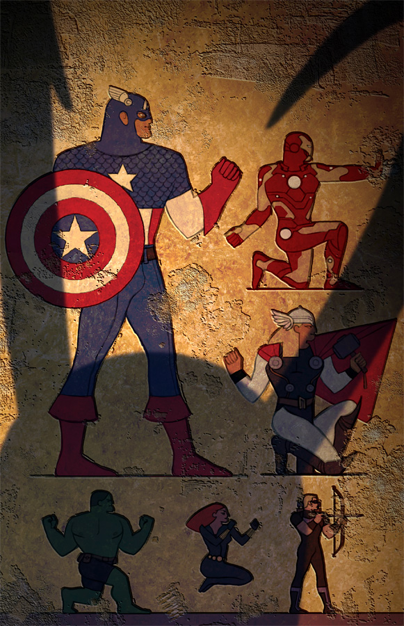 221cbakerstreet :      airation :      todundverderben :      Egypt Avengers  by * ChristianNauck      What's that annoying shadow blocki—oh.     beautiful