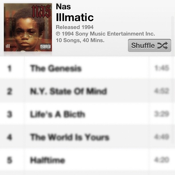 #Illmatic  (Taken with  instagram )