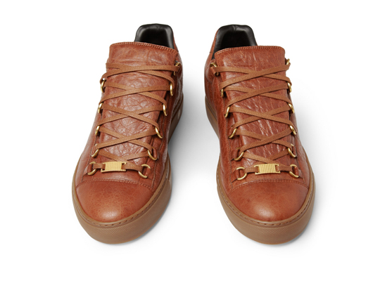 open-season: Balenciaga Arena Creased Leather Sneakers