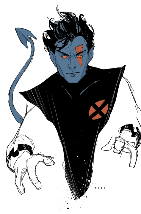philnoto :     AoA Nightcrawler - A character study done for my upcoming Uncanny X-Force #24 issue.