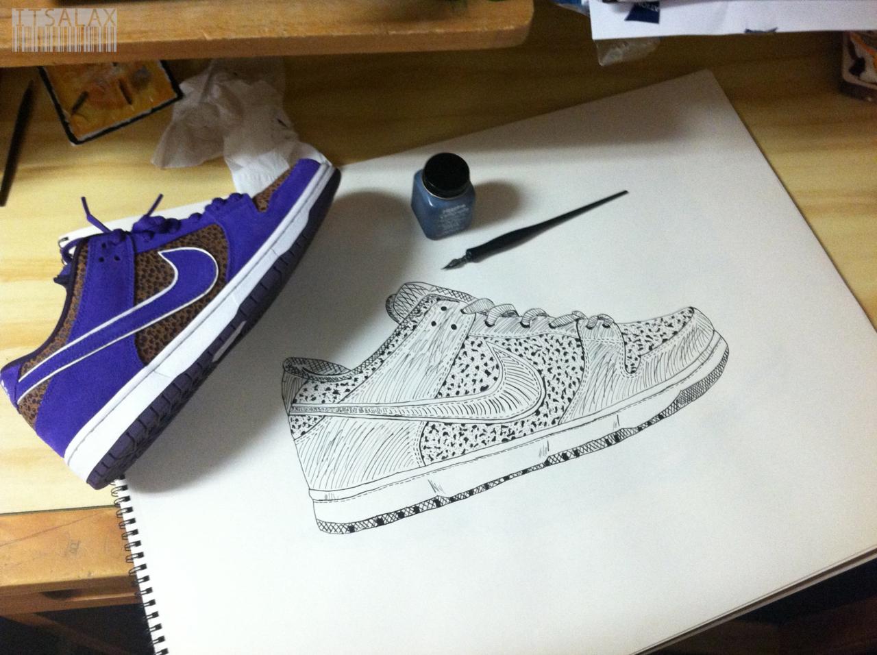 fuckyeahnikes :     Pen & Ink.    itsaylax.tumblr.com