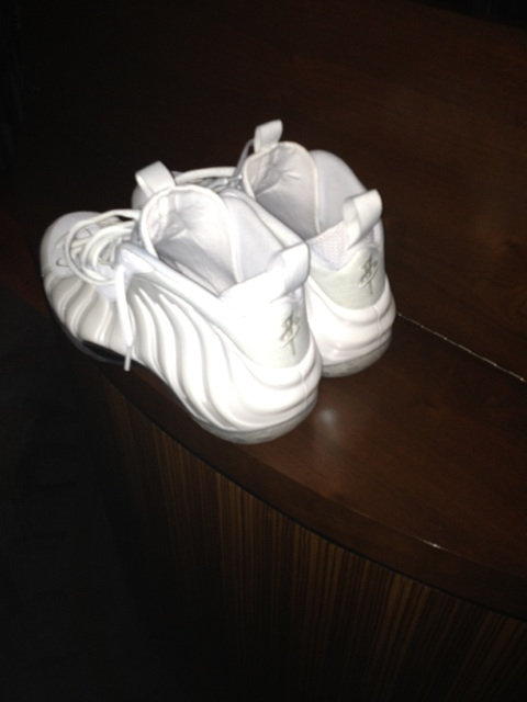 kicksovaeverything :     All White Penny Foamposite, Exclusive just for Penny     Ispy!
