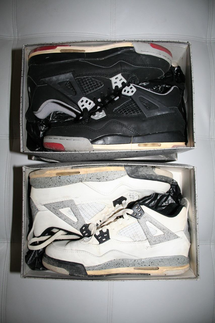 mhmgrams :        OG 1989 Jordan 4 (IV) White Cement White / Black | '894's (IV) Black / Cement Grey         (via  graveshifters )