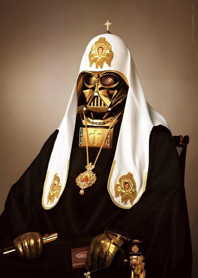 thebonesofhoudini :     Russian Orthodox Patriarch Vader by Dmitry Dyachkov.