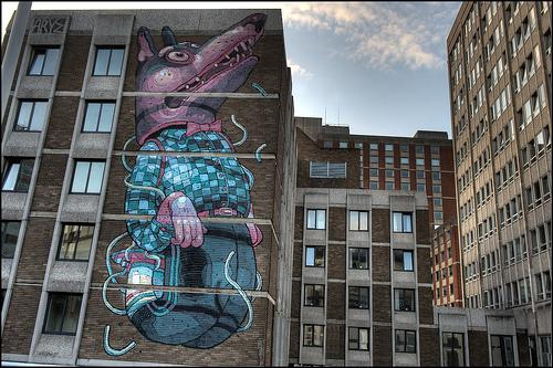 stencils: Aryz - 'See No Evil' Bristol. (by Romany WG)