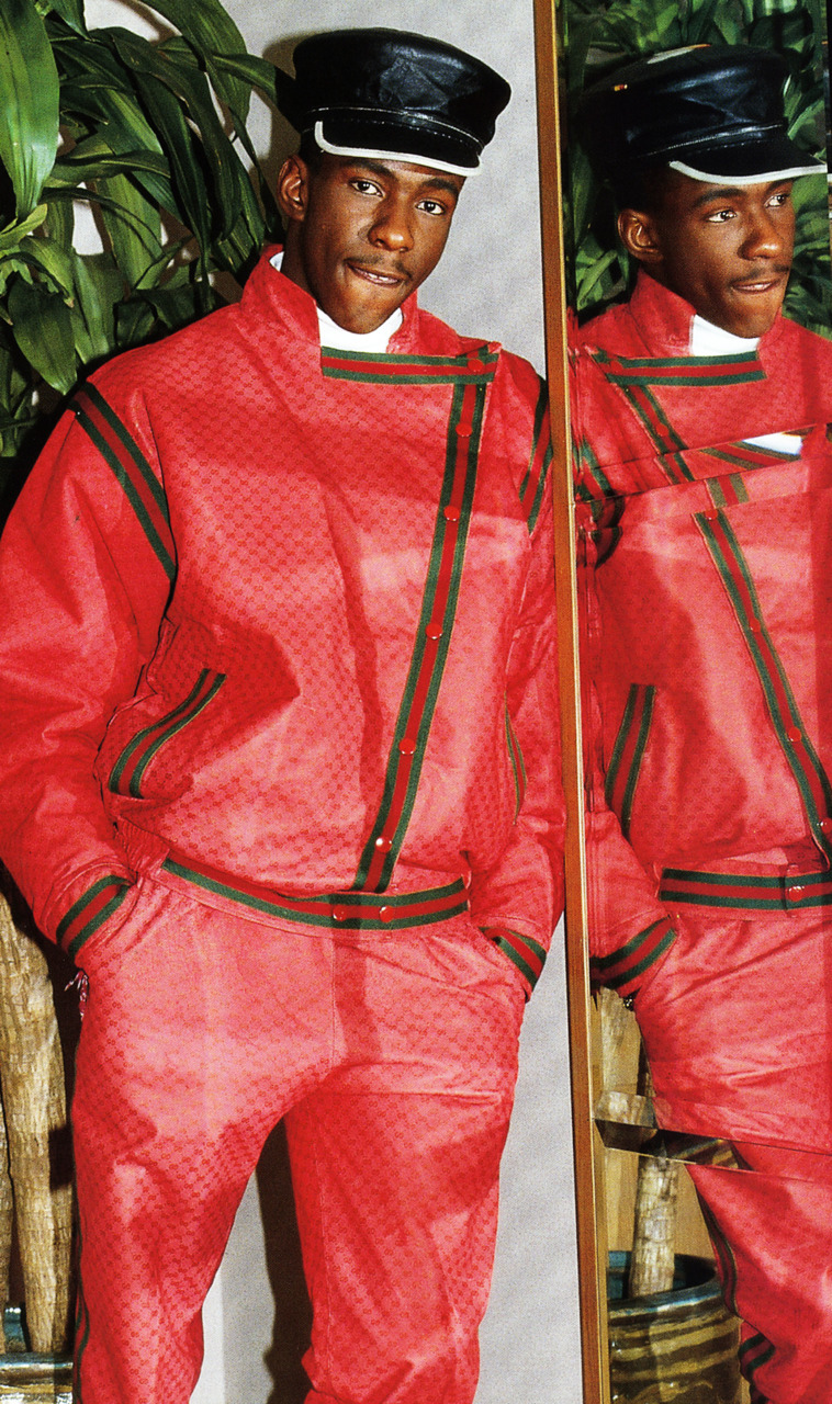 nikkomohammed :     Bobby Brown in Gucci 1988     #OG