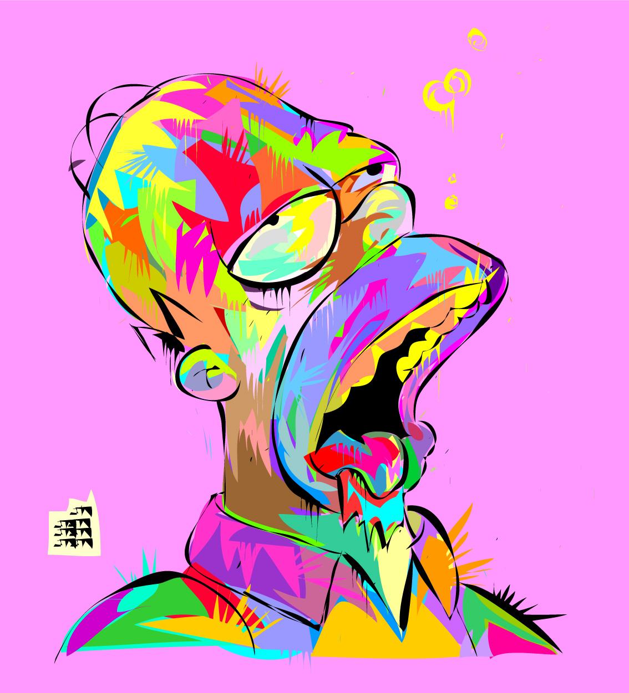 technodrome1 :     Homer   Hamburger Drunk   Swag    by    #Technodrome1     Way Cool