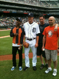 ffovereverything :     with Adam Wilk of the Detroit Tigers & ceremonial 1st pitch representatives from Pepsi and MillerCoors.        Do It!