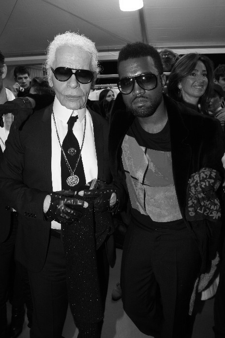 Karl Legerfield and Kanye West.