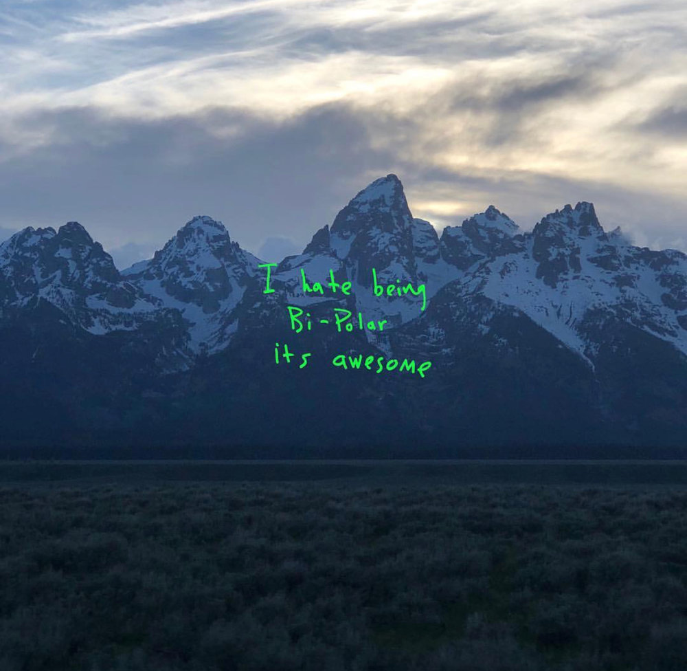"new kanye west album out now , ""YE"",  https://tidal.com/album/89768255"