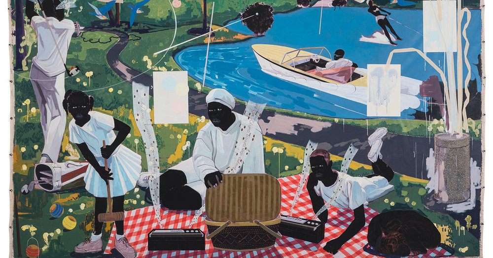 """Past Times"" by Kerry James Marshall"