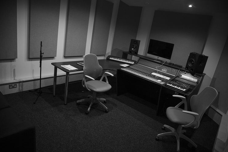 Studio 2 - Audient ASP4816, Adam A8X Monitors with 16 Channel Avid Interface