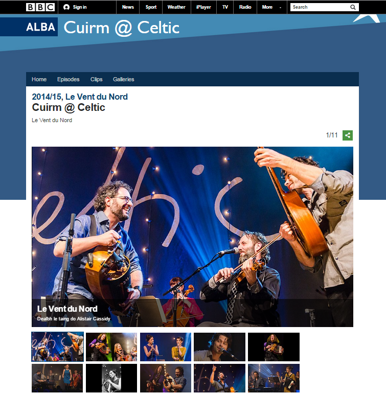Le Vent du Nord @ Celtic Connections 2015 - BBC Alba image gallery