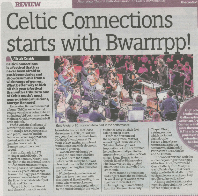 Celtic Connections 2015 Opening Concert - Perthshire Advertiser
