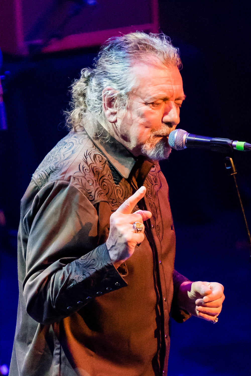 Robert Plant at the final concert