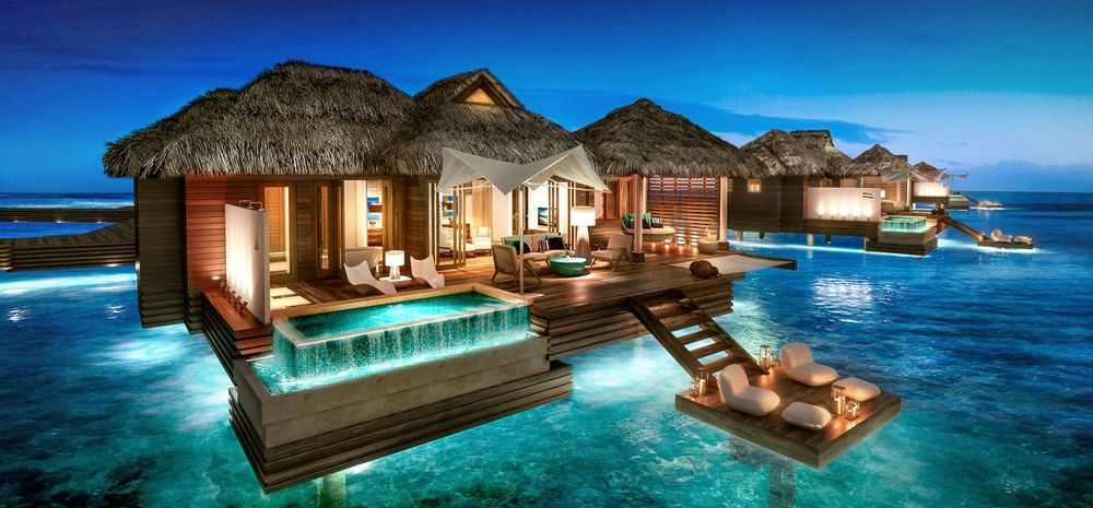 Luxury Over Water Suite Sandals Royal Caribbean Clarity and Class