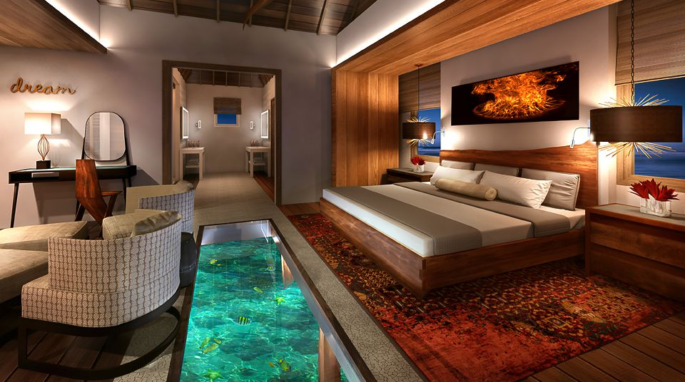 Sandals Over Water Suite Jamaica Glass Floor Clarity and Class
