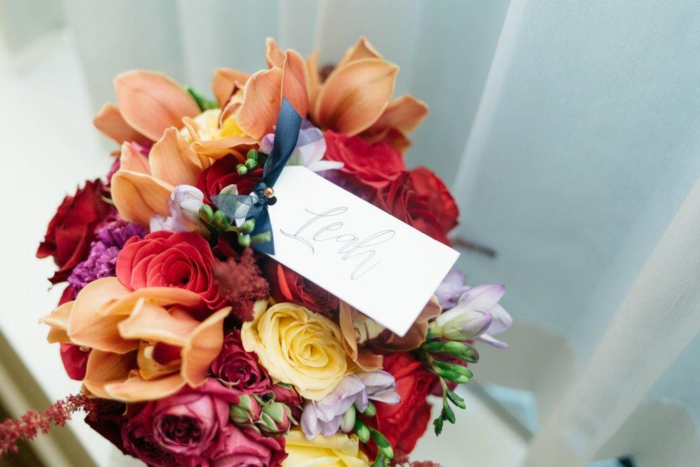 Clarity and Class Washington DC Elegant Jewel Toned Wedding Bouquet