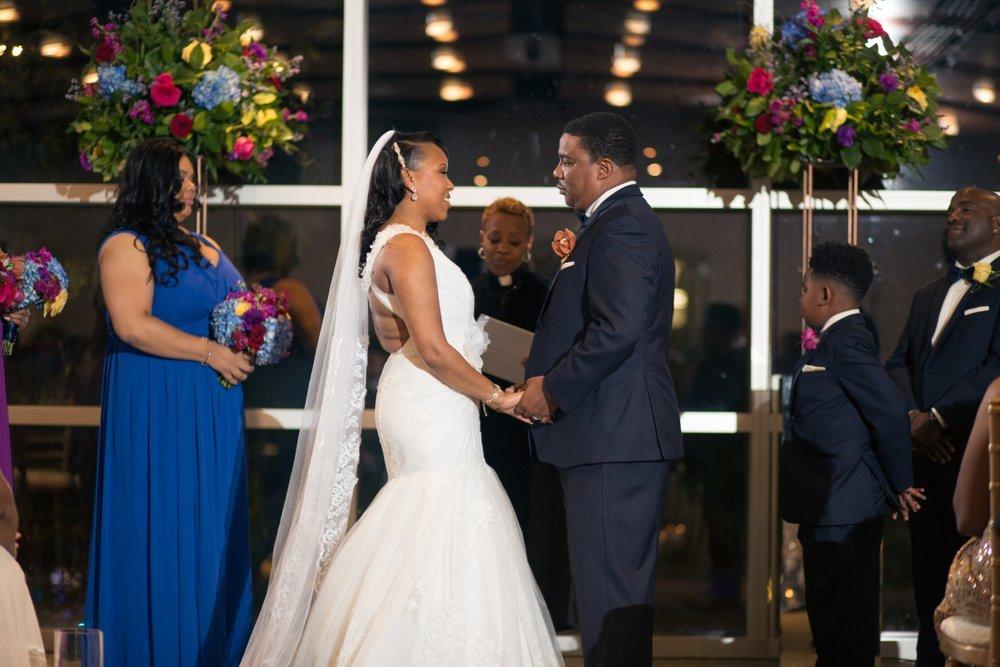 Clarity and Class Washington DC Elegant Jewel Toned Wedding Ceremony Rockville MD