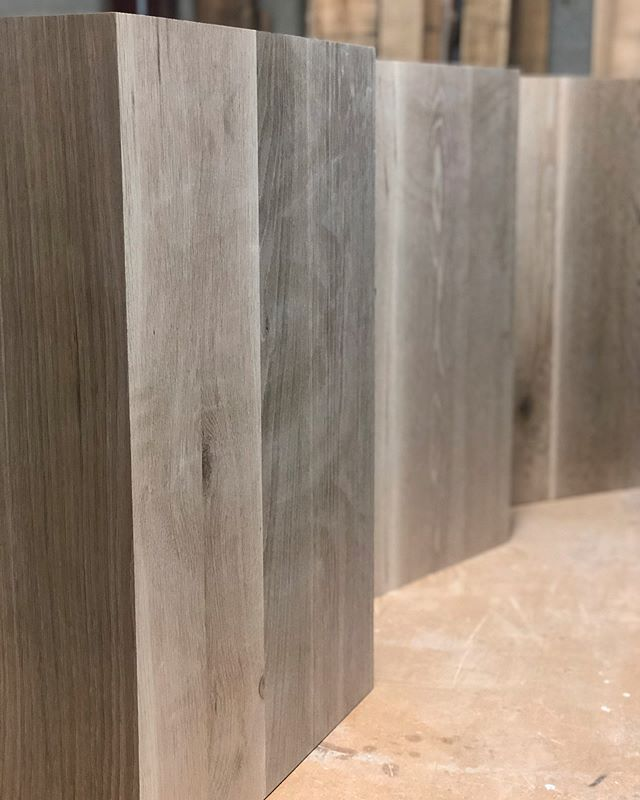 We've been working on some white oak trash can covers for the bar area at @nostudiosmke with @everickbrowndesign  These very pretty boxes have been charred and finished with a penetrating oil. I can't wait to see what they look like in their space!  #bespokefurniture #furnituredesign #handsondesign #woodworking#trash #interiordesign #furniture #moderndesign