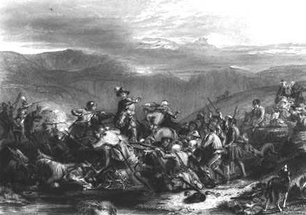 Covenanters battling against the king's troops.