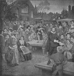 Renewing the National Covenant, Greyfriars churchyard, 1638.