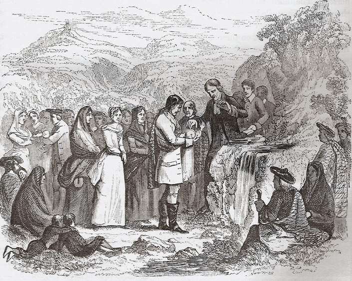 Covenanters dispensing the ordinance of baptism.