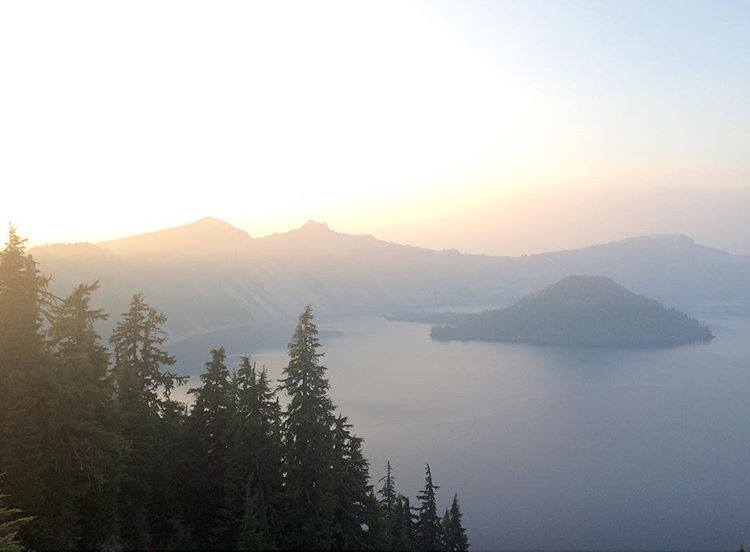 Crater Lake outside of Portland, OR