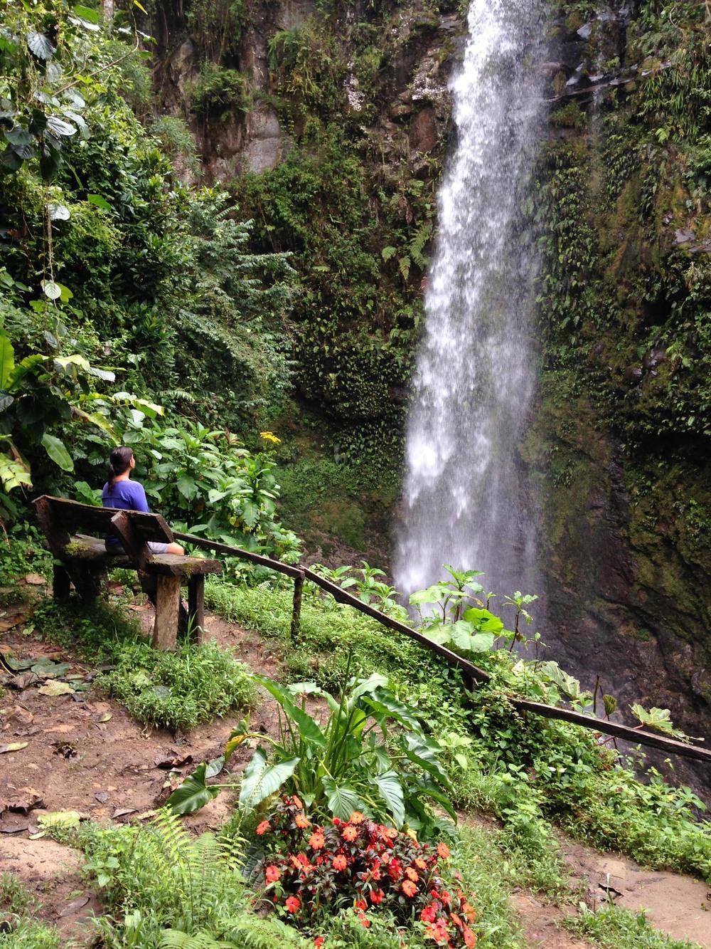 A primeira das 3 cachoeiras, a única onde não é possível mergulhar.