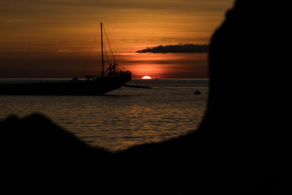 Por do sol lindo em Playa Mann!