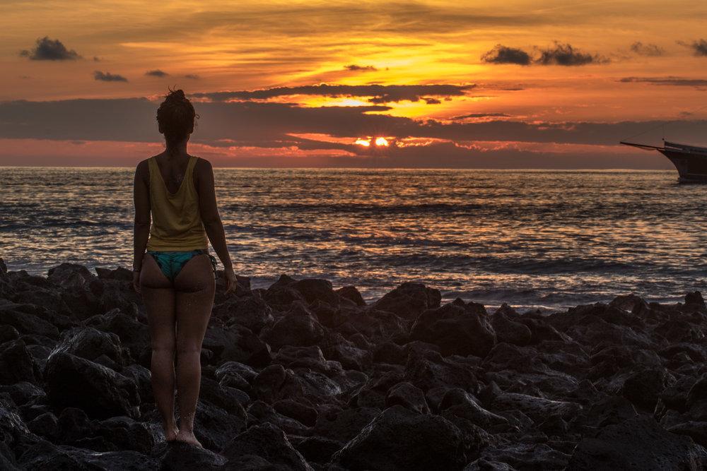 Por do Sol em Punta Carola!