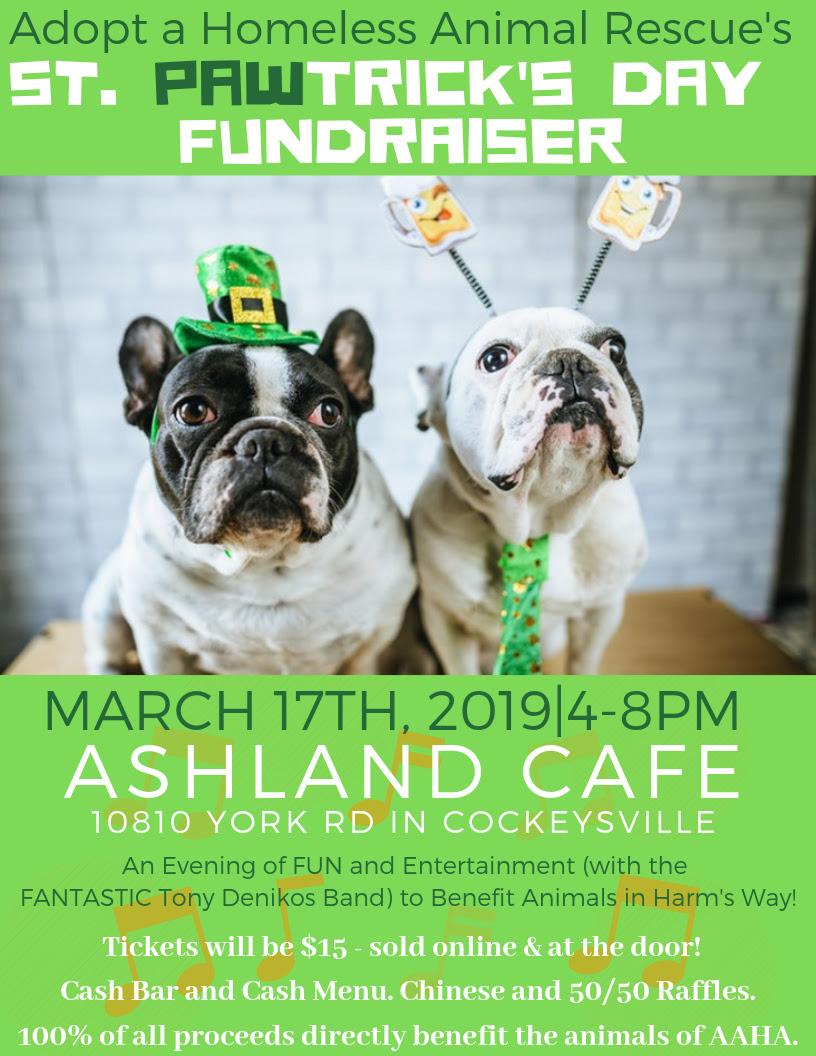 St. Pawtrick's fundraiser flyer, 2019