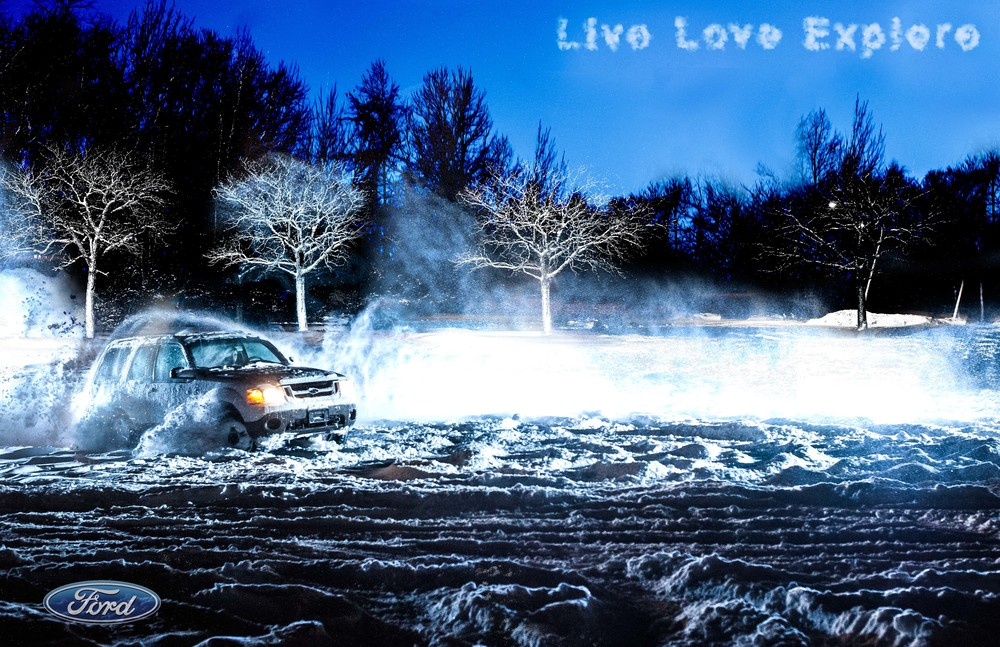 """<alt=""""Jusphotography commcerical Photography Ford Explore Snow Adventure """" >"""