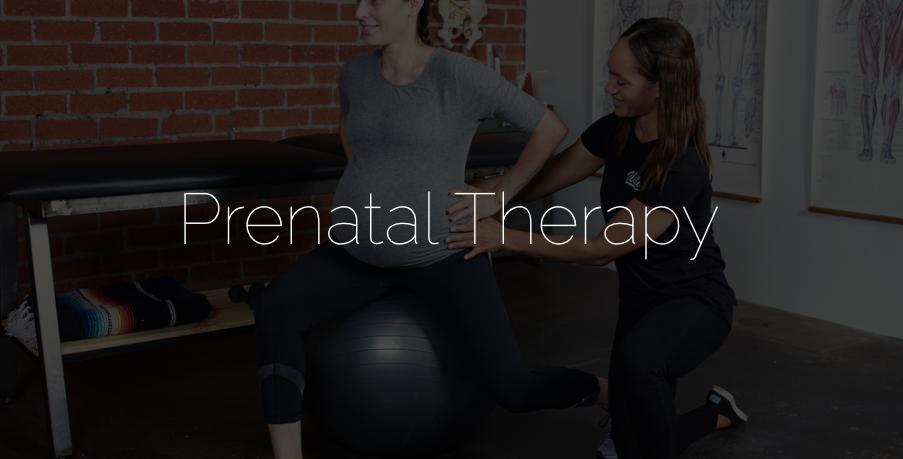 Prenatal and postnatal therapy
