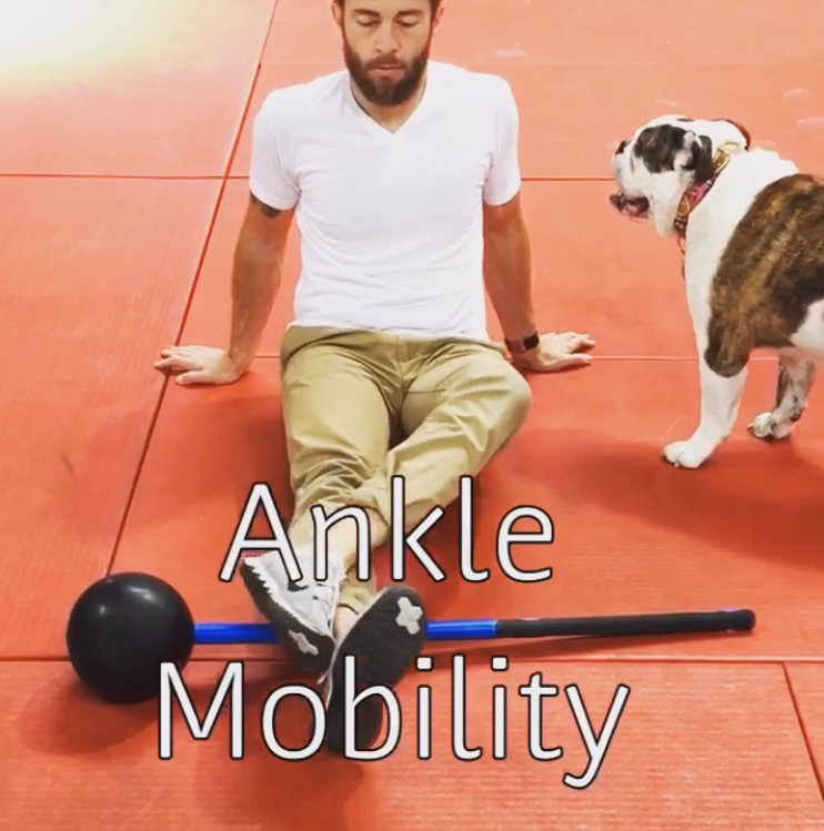 How to increase ankle mobility in stiff ankles with soft tissue mobilization and active tri-planar stretching.