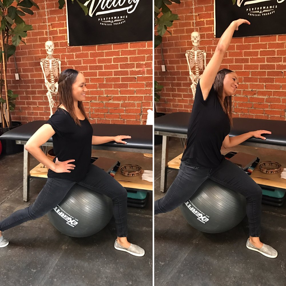 Standing Psoas Stretch For Pregnant Women With Back Pain