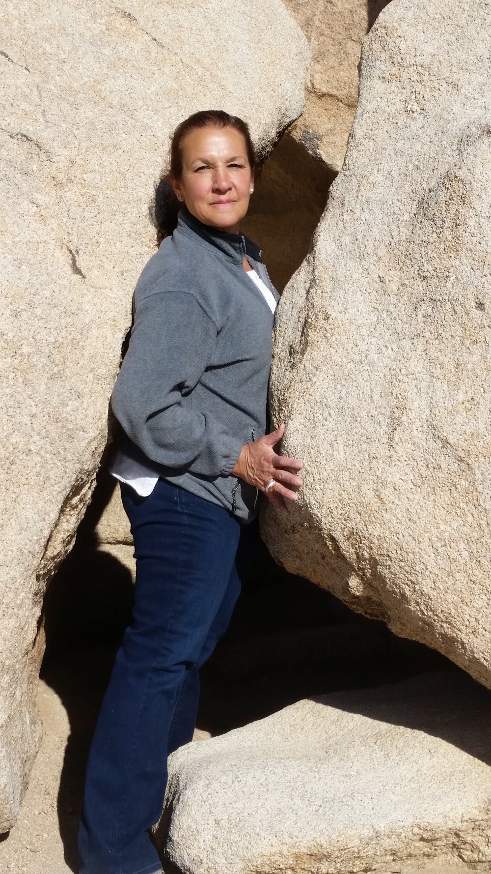 I was at Joshua Tree National Park today and had to go through a narrow passage.  Last year I would not have been able to do it. This year I had plenty of room. I feel very happy and blessed.