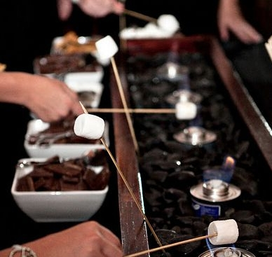 What could be better than a DIY s'mores station?