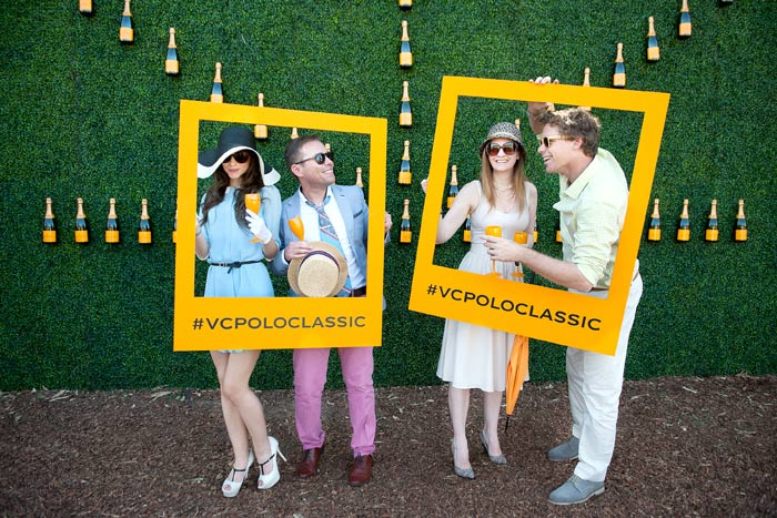 "An Instagram-ready ""photo booth"" at the Veuve Cliquot Polo Classic Event"
