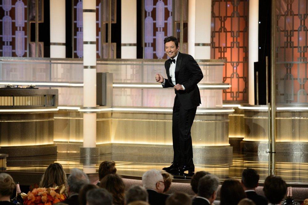 Set design Golden Globes circa 2017 via latimes.com