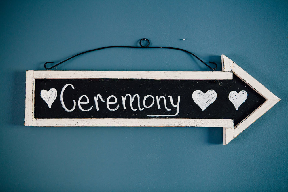 Ceremony Chalkboard Sign