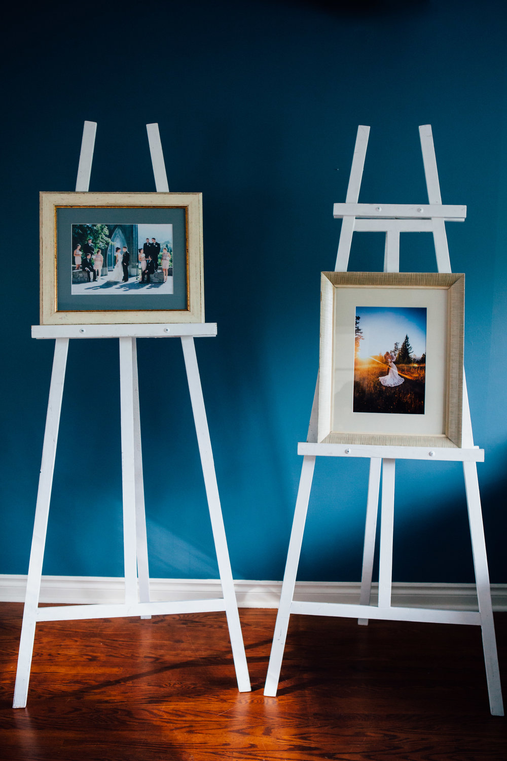 White Easels - Great for Displaying Frames & Chalkboards