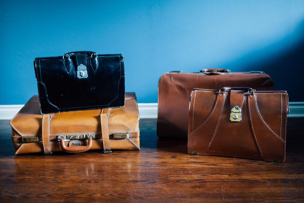 Various Vintage Suitcases
